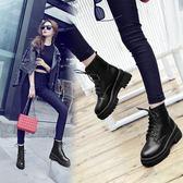 短靴 馬丁靴子女款新款短靴韓版百搭學生原宿英倫風鞋子潮 『夢娜麗莎精品館』