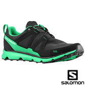 【SALOMON 法國】S-Wind Inca男戶外休閒鞋『黑/綠』多功能鞋.健行鞋.登山鞋.短筒 128407