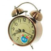高級電鍍銅雙鈴超靜音鬧鐘