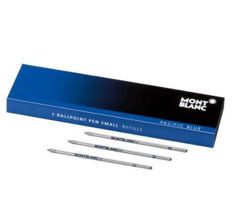萬寶龍MONTBLANC-筆芯-海藍色小號原子筆-3支裝