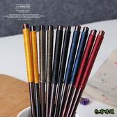 包有味道日式和風筷子家用木筷 綁線防滑工藝木筷子餐具