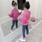 女童秋裝套裝中大兒童裝女孩牛仔褲兩件套潮第七公社