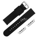 Apple Watch / 38.40.42.44mm / 蘋果手錶替用錶帶 蘋果錶帶 休閒 尼龍 帆布錶帶 黑色 #809-31-BK