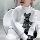 女童上衣 波拉bora韓國童裝男童女童小熊衛衣2021新款中大兒童加厚上衣【快速出貨八折鉅惠】