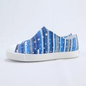 Native JEFFERSON PRINT 波西米亞系列 中童洞洞鞋 151001018860 藍條紋【iSport】