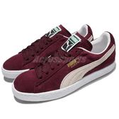 Puma 休閒鞋 Suede Classic 麂皮 紅 酒紅 白 基本款 男鞋 女鞋 情侶鞋【PUMP306】 35263475