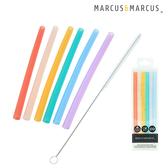 加拿大 Marcus & Marcus 動物樂園 果凍矽膠吸管7件組 環保吸管 116941 好娃娃