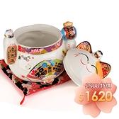 【金石工坊】福滿億萬兩糖果罐/聚寶盆(高20CM)招財貓 喬遷 開店送禮 開業禮品 陶瓷開運擺飾