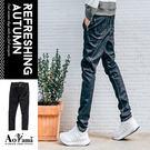 牛仔褲 3D剪裁潑漆設計原色丹寧彈力牛仔褲【E5820】青山AOYAMA