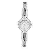 ELLE  人魚之淚晶鑽貝殼面腕錶-銀