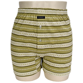 BURBERRY TRUNK條紋兩釦式家居短褲(淺綠)085173-2