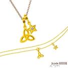 J'code真愛密碼 雙魚座-幸福結黃金墜子(流星) 送項鍊+黃金手鍊