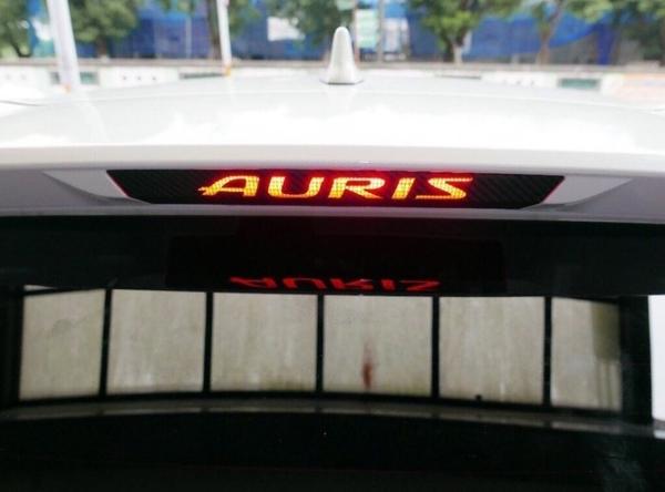 TOYOTA豐田【AURIS第三煞車燈貼膜】後擋剎車貼 警示燈造型貼膜 AURIS黑卡夢 不殘膠 紅色透光