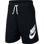 Nike As M Nsw He Short Ft Alumni [AR2376-010] 男 短褲 棉褲 休閒 黑白