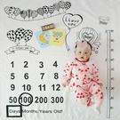 寶寶拍照背景布嬰兒滿月百天月份攝影道具