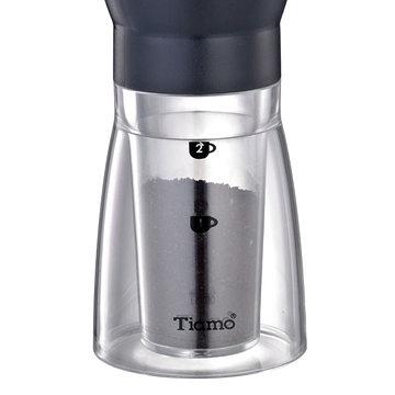 金時代書香咖啡 Tiamo 輕巧手搖磨豆機 透明下座 粉盒 HG6139-1