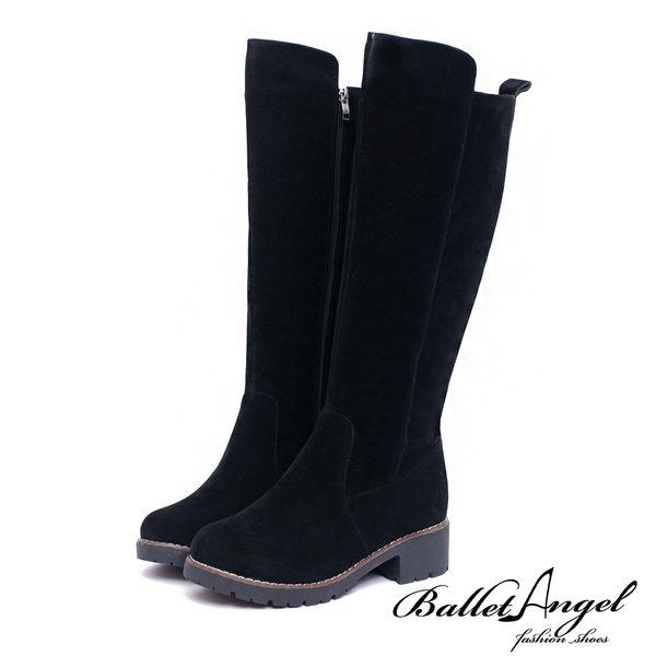 長靴 原色品味鉚釘點綴長筒靴(黑) *BalletAngel【18-1785bk】【現貨】