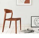 【歐雅系統家具】卡里納北歐餐椅-棕 / 北歐風 / 現成家具 / 椅子 / 多色選擇 / PP / ABS / 防水