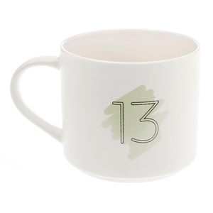 HOLA 數字馬克杯 13號 380ml 13th Thirteenth