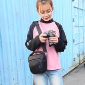 相機包 佳能相機包單反側背便攜男女攝影包三角包200d750d1500d80d6D800d 小宅女