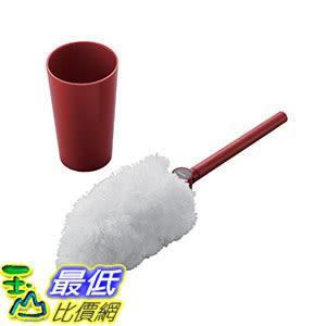 [106東京直購] ELECOM KBR-011RD 伸縮旋轉清潔刷 cleaner brush Length and angle adjustable case Red