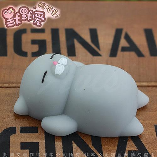 新款 可愛 發洩 紓壓小物 療癒小物 捏捏樂 動物 公仔 玩具 減壓 盒玩 創意 玩具 貓咪老師-灰