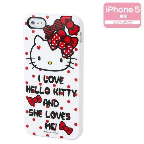 ★funbox生活用品★《Sanrio》HELLO KITTY 紅緞帶 iPhone5保護殼_578479