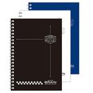 美加美 A4無色系列膠圈筆記(黑AW3031/白AW3032/藍AW3049) 3本 / 包
