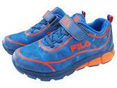 『雙惠鞋櫃』★ FILA ★中大童 神秘時空 慢跑運動鞋 ★ (3-J401Q-366) 藍橘