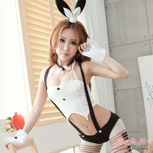 兔女郎角色扮演 職撞舉牌小兔子吊帶三角褲- 愛衣朵拉