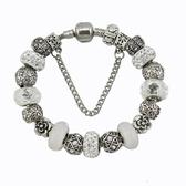 串珠手鍊-閃亮鑲鑽復古水晶飾品熱銷女配件73kc303【時尚巴黎】