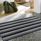 范登伯格 魯伯PVC刮泥地墊-黑白-45x70cm