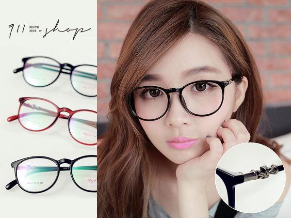 Glint.TR90克羅心十字裝飾圓框光學配鏡框眼鏡【p657】*911 SHOP*