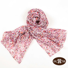 【岱妮蠶絲】純蠶絲花樣百搭長款絲巾-MYC014012Z(紫紅果實)