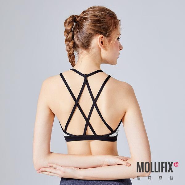 Mollifix 瑪莉菲絲 Active+交錯延展運動BRA (石紋白)