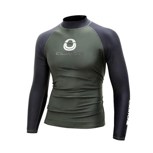 潛水服歐美新款男士沖浪服長袖上衣防紫外線成人浮潛速干水母泳衣