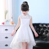 兒童禮服裙公主裙小花童女童婚紗裙蓬蓬裙鋼琴演出服晚禮服白色夏   LannaS