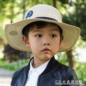 男童大檐草帽兒童沙灘帽親子遮陽帽夏天母子寶寶太陽帽子防曬涼帽『CR水晶鞋坊』