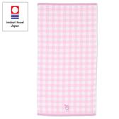 Sanrio 美樂蒂日本製今治純棉浴巾(粉格紋)★funbox★_669202