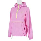 Mizuno [D2TC127667] 女 長袖 上衣 連帽 風衣 運動 休閒 防潑水 舒適 防風 口袋 粉紅