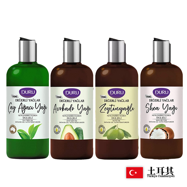 土耳其 Duru 酪梨/橄欖/乳油木果/茶樹 保濕沐浴露 500ml 款式可選 沐浴乳【PQ 美妝】