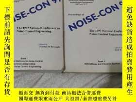 二手書博民逛書店罕見NOISE-CON97(Book1-Book2)Y27454