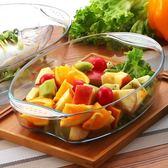 鋼化耐熱玻璃烤盤家用 橢圓形焗飯盤烘焙魚盤微波爐烤箱盤子餐具   伊衫風尚