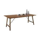 雷克斯6.6尺胡桃餐桌(21CM/954-1)/H&D東稻家居