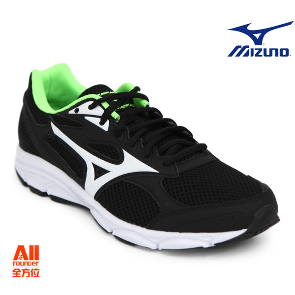 【Mizuno美津濃】男款慢跑鞋 MAXIMIZER 20 -黑綠色(K1GA180015)全方位跑步概念館