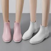 雨鞋女成人短筒雨靴夏季防水套鞋低幫輕便防滑女式短水靴膠鞋水鞋【快速出貨八折搶購】