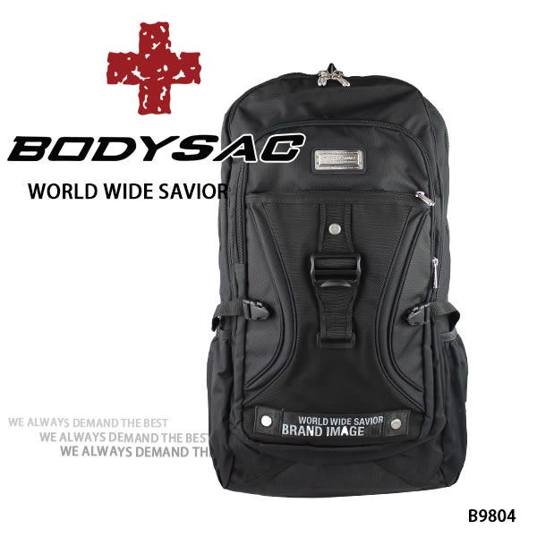 黑色機能耐磨後背包  AMINAH~【BODYSAC B9804】