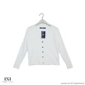 【INI】細膩魅力、基本百搭素色針織外套.白色