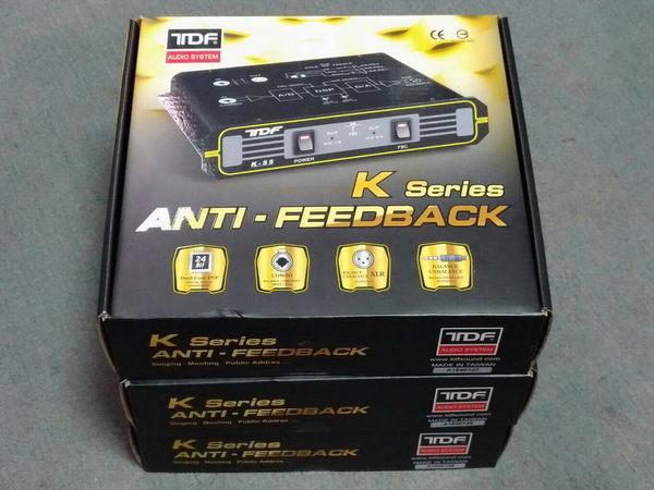 盛昱音響 ~ 台灣 TDF K-55 迴授抑制器 / 全自動式免設定DSP自動偵測降頻式防囂叫  ~ 現貨可自取