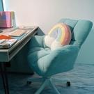 家用電腦椅沙發椅舒適久坐書房椅子靠背懶人休閒旋轉椅書桌寫字椅【全館免運】